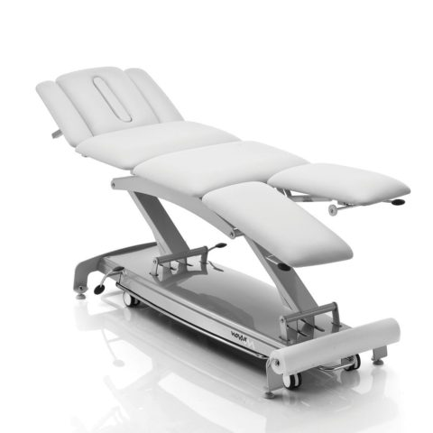 Electrical physiotherapy table / on casters / height-adjustable / 4-section